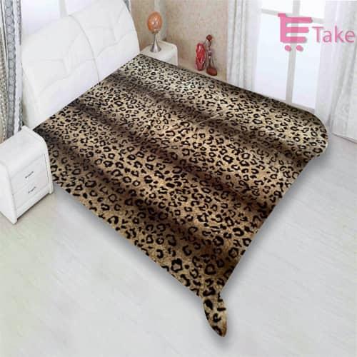 Leopard Skin Roll Throw